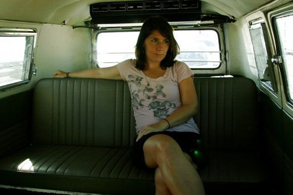 sheena in vintage vw kombi 580x387 Born Again Nacho
