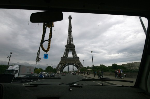 Alas, we make a pass around the Eiffel Tower and whisk ourselves out of Paris, heading north.