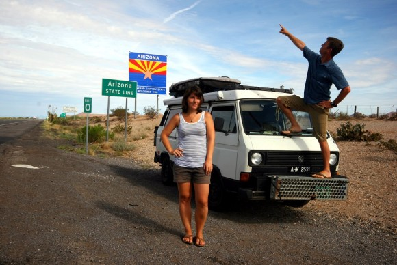 Arriving back in Arizona after 927 days on the road - Copy